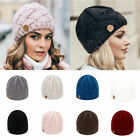 Womens Head Cover Folds Round Knitted Hat Cap Bonnet Hat Hat Wool Cap Headscarf