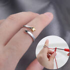 Jewelry Thimble Ring Knitting Loop Crochet Ring Yarn Guides Finger Wear