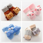 Animal Rattle Socks Baby Soft Sensory Foot Finder Cotton Walking Sock 0-6 Months
