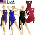 US Women Ladies Ballet Dance Dress Gymnastics High-Low Leotard Dancewear Costume