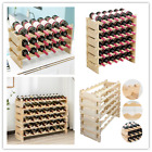 Stackable Wood Wine Rack Tabletop Bottle Display Holder Storage Cellar Standing