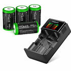 Lot 5000/10000mAh Ni-MH C D Size Cell Rechargeable Batteries Battery / Charger