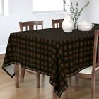 Tablecloth Halloween Beavers Window Candle Spooky Rustic Cotton Sateen