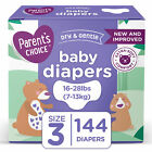 Parent's Choice Disposable Diapers Dry And Gentle Choose Size & Count, Fast Ship For Sale