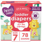 Parent's Choice Disposable Diapers Baby Diapers Size Newborn, 1,2,3,4,5,6,7 <br/> Free 2-day Shipping & Free 60 Day Returns