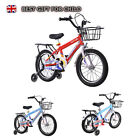 Kids Bike 14/16/ 18 Inch Children Boys Bicycle Cyclings W/Removable Stabilisers