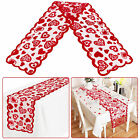 Romantic Heart Pattern Table Runner Placemat Wedding Party Home Desk Cloth