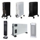Oil Filled Radiator Portable 7-13 Fin 1500-2500W, Electric Convector Heater