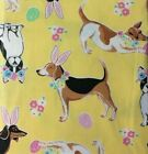 Assorted Sizes Vinyl Flannel Back Easter Dogs Tablecloths Multi-color Mainstream