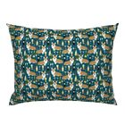 Corgi Beer Wine Martini Champagne Dog Drinks Pillow Sham by Roostery