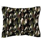 Bear Camo Forest Wilderness Woodland Bears Camouflage Pillow Sham by Roostery