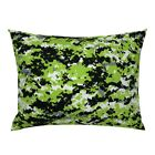 Zombie Camo Digital Neon Pillow Sham by Roostery