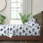 Toile Trailer Trash Mobile Home Funny 100% Cotton Sateen Sheet Set by Roostery