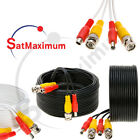 Security Camera Cable Video Surveillance  Power Cord CCTV BNC Siamese Wire -LOT