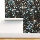 Removable Water-Activated Wallpaper Galaxy Space Stars Universe Outer Nebula