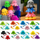 Octopus Plush Reversible Soft Mood Flip Stuffed Toy Animal Home Accessories Gift