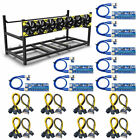 Veddha V3C 6 / 8 GPU Mining Rig Aluminum Case Stackable Open Air Frame BTC