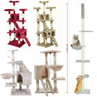 Cat Tree Scratching Post Kitty Tower Activity Center 5-Tier Floor to Ceiling Er