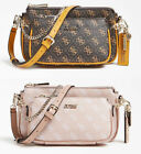ARIE Double Pouch Crossbody Bags 4G Pattern Women's Handbag NWT VG788570