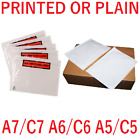 Printed Plain Documents Enclosed Wallets Sleeves Pouches A7 A6 A5 Postal Sleeves