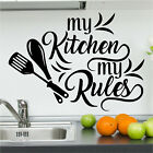 My Kitchen My Rules Wall Art Sticker Home Decor Quality Diy Decal Quotes N159