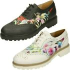 Ladies Spot On Lace Up 'Brogue Shoes'