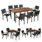 Outdoor Dining Set Patio Garden Table Chairs Set Armchair Furniture 4/6/8 Seater