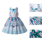 Toddler Girls Summer Lace Dress  Bow Floral Print Spanish Dresses Sleeveless US