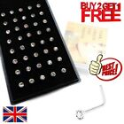 Nose Studs Set I L Screw Shape Silver Ball End Gold Ring Piercing Surgical Steel <br/> 💥CHEAPEST ON EBAY💥 TOP QUALITY💥 UK SELLER 💥 FAST 💥
