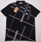 Burberry Cotton Polo Shirt for Men in Black