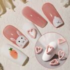 Frosted Hollow Love Nail Jewelry Japanese Girl Heart Small Fresh 3D Metal Nail