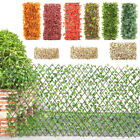 Garden Screening Expanding Trellis Fence Privacy Screen Artificial Leaves UK