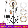 Dimmable LED Selfie Ring Light Phone Camera Lamp with Tripod for Makeup Video Li