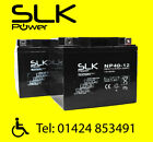 TWIN PACK MOBILITY SCOOTER BATTERY LITHIUM AGM/GEL12v 12 33 36 50 55 75 100AH.