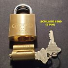 ABUS 83/45 RE-KEYABLE BRASS PADLOCK WITH CYLINDER AND 2 KEYS (VARIOUS CYLINDERS)
