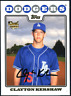Clayton Kershaw 2008 Topps Update GOLD FOIL Rookie RC UH240 Card - Dodgers MVP