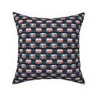 Retro Camper Pink Camping Throw Pillow Cover w Optional Insert by Roostery