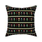 Floral Flowers Flowery Flower Throw Pillow Cover w Optional Insert by Roostery