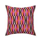 Mod Modern Retro Geometric Bold Throw Pillow Cover w Optional Insert by Roostery
