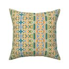 Retro Boho Bohemian Hippie Throw Pillow Cover w Optional Insert by Roostery