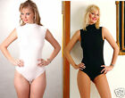 2XSLEEVELESS TURTLENECK BLK&WHT SUPERB QUALITY BODYSUIT