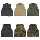 MULTI-POCKET FISHING VEST SHOOTING HUNTING TRAVEL MENS WAISTCOAT ARMY CAMPING