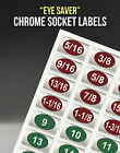 Chrome Socket Labels for mechanics & the home craftsman