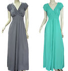 New Country Style Dark Teal Blue Maxi Summer Dress