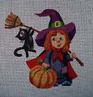 "Needlepoint canvas ""Funny Witch"""