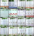 """VOILE CAFE NET CURTAIN PANEL ~PANEL  19 Great Designs 18"""" & 24"""" Drops"""