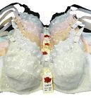 6 BRAS NEW BR9545PL Heart Lace Design Bras Lot 34B 36B 34C 36C 38C 40C