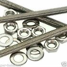 M6 A2 Stainless Threaded Bar - 6mm Rod Studding - 3 Pack + 6 Nuts + 6 Washers
