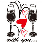 WITH YOU Vinyl Wall/Window Decor Sticker Decal GPC-009