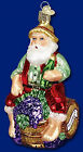 Wine Grapes Beer Santa Claus Glass Christmas Ornament